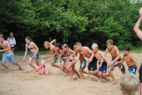 The children's version of the same activity: Competing by running and swimming (Vammen Sports Challenge) (Photo: Renny)