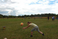 Many activities in the form of various types of ball games at the sports field