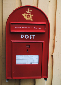 Vammen Camping has its own classic Danish red mailbox from which you can send postcards to your family (Photo: Renny)
