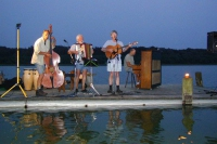 Raft concert. Music, singing and yodeling