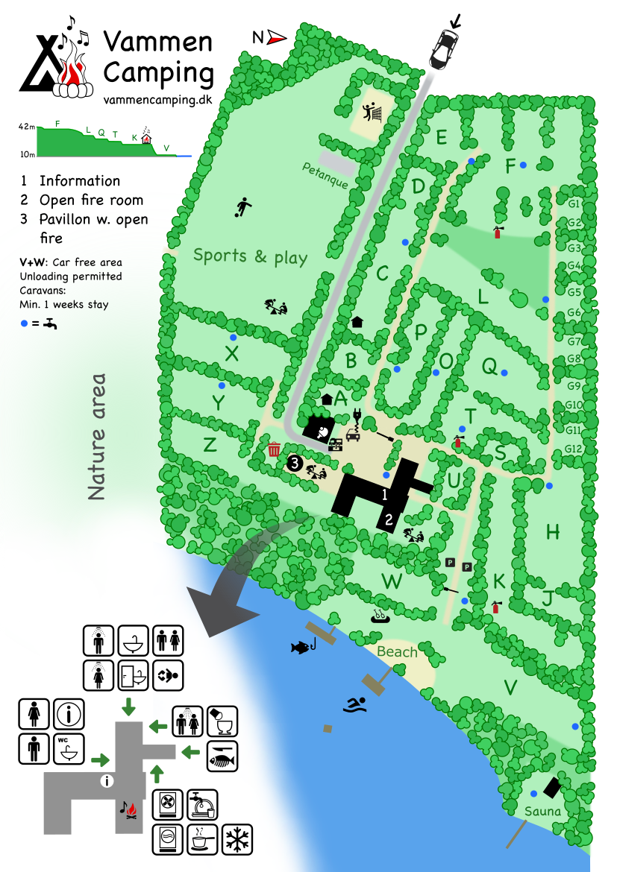 Map over Vammen Camping
